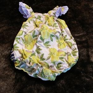 Lemon tree ruffle onsie